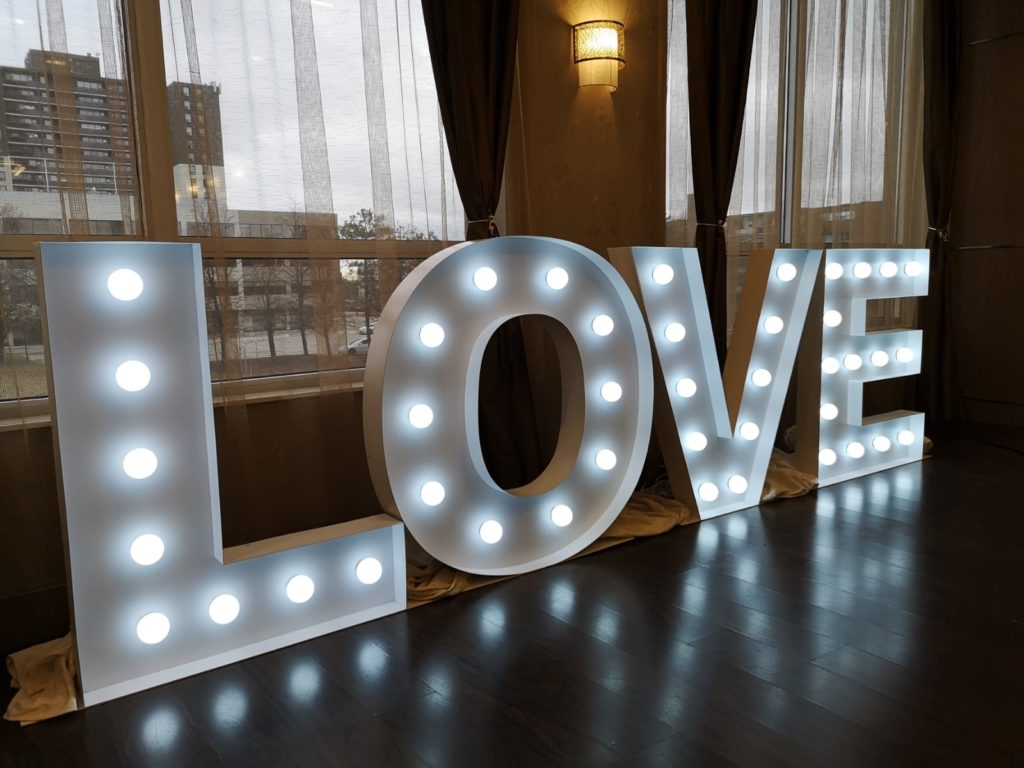 LOVE marquee letter toronto